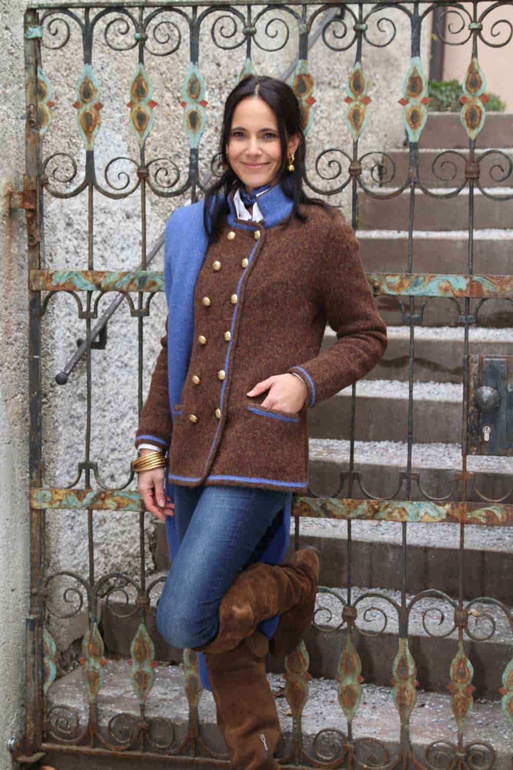 Jacket: L309 Color: 3178/3606+3178 [LÖW] Stole: L98 Color: 3606/uni